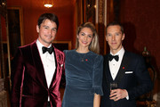 (L-R) Josh Hartnett, Tamsin Egerton and Benedict Cumberbatch attend a dinner to celebrate The Prince's Trust, hosted by Prince Charles, Prince of Wales at Buckingham Palace on March 12, 2019 in London, England. The Prince of Wales, President, The Prince's Trust Group hosted a  dinner for donors, supporters and ambassadors of Prince's Trust International.