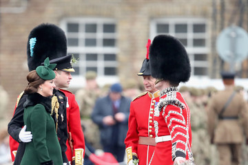 Prince William The Duke And Duchess Of Cambridge Attend The Irish Guards St Patrick's Day Parade