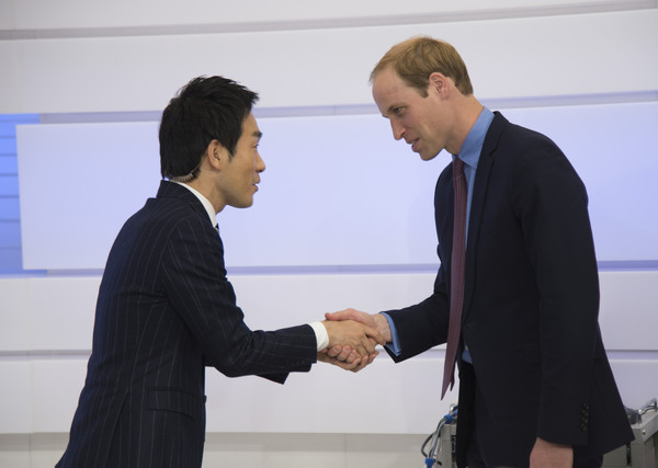 Prince William Prince William, Duke of Cambridge visits NHK Public Broadcasting Studios on the third day of his visit to Japan on February 28, 2015 in Tokyo, Japan. The Duke of Cambridge is visiting Japan from February 26th to March 1st 2015.