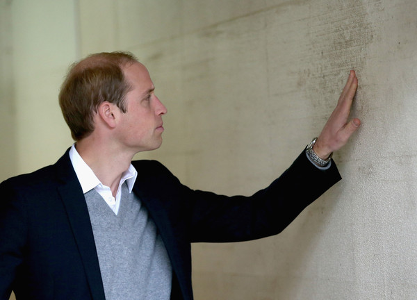Prince William Prince William, Duke of Cambridge examines the 2011 Tsunami high tide mark at Ishinomaki local newspaper office on March 1, 2015 in Ishinomaki, Japan. The Duke of Cambridge is on his final day in Japan and will begin an Official visit to China tommorow.