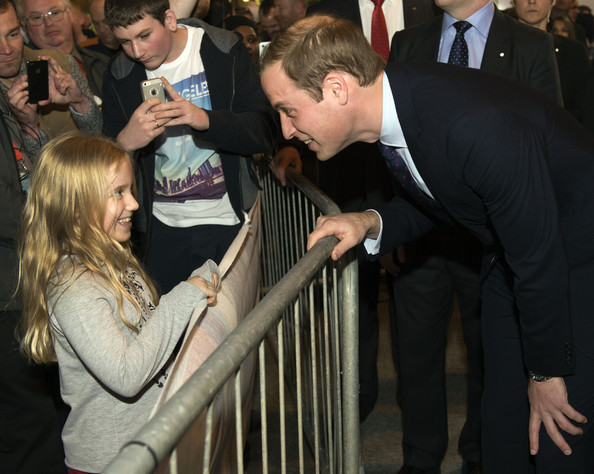 Prince William Prince William, Duke of Cambridge meets Bronte Williams, 8, from Devon during a visit to Motorcycle Live at the National Exhibition Centre, where he toured the stands and watched a live motorcycle display on November 30, 2013 in Birmingham, United Kingdom.