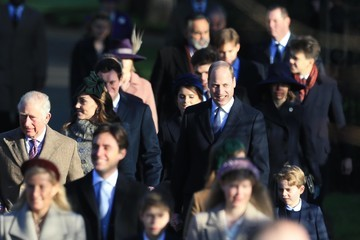 Prince William Prince Charles The Royal Family Attend Church On Christmas Day