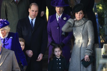 Prince William Princess Charlotte The Royal Family Attend Church On Christmas Day