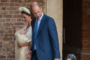 Prince William Princess Charlotte Christening Of Prince Louis Of Cambridge At St James's Palace