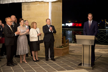 Prince William The Duke Of Cambridge Visits Malta - Day 1