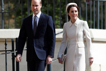 Prince William The Royal Family Attend Easter Day Service in Windsor