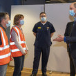 Prince William The Duke Of Cambridge Visits A Vaccination Centre In King's Lynn