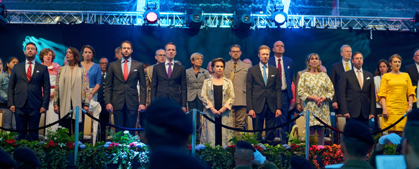 Luxembourg Celebrates National Day : Day One [event,performance,award ceremony,ceremony,tourism,stage,award,sebastien,felix,alexandra,stephanie,guest,guillaume of luxembourg,grand duchess maria teresa of luxembourg,day one,luxembourg,luxembourg celebrates national day]