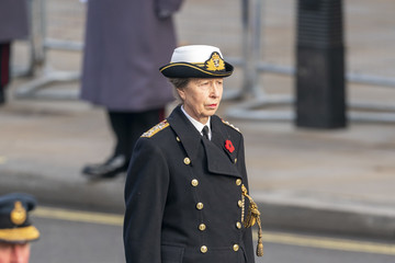 Princess Anne National Service Of Remembrance At The Cenotaph