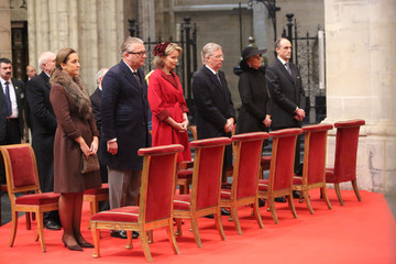 Princess Astrid Prince Philippe Belgian Princely Family Attend 'Te Deum' For King's Day
