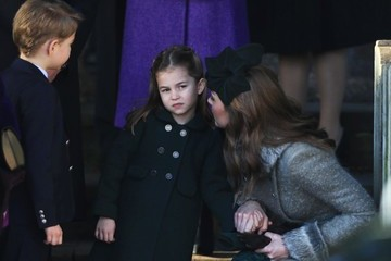 Princess Charlotte The Royal Family Attend Church On Christmas Day