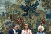 Princess Elena of Spain (C) attends XXV Children and Youth Painting Contest at El Pardo Palace on June 11, 2019 in Madrid, Spain.