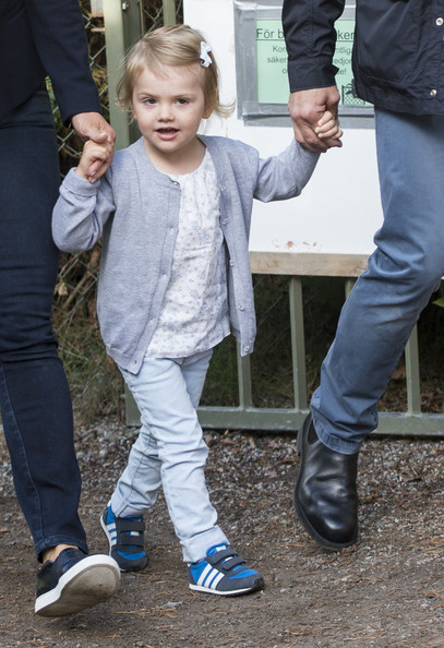 Princess Estelle of Sweden's first day at pre-school on August 25, 2014 in Stockholm, Sweden.