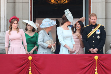 Princess Eugenie Princess Beatrice HM The Queen Attends Trooping The Colour