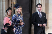 Jimmy Carr (R) arrives ahead of the wedding of Princess Eugenie of York and Mr. Jack Brooksbank at St. George's Chapel on October 12, 2018 in Windsor, England.