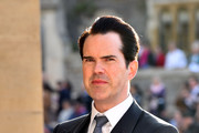 Jimmy Carr arrives ahead of the wedding of Princess Eugenie of York to Jack Brooksbank at Windsor Castle on October 12, 2018 in Windsor, England.