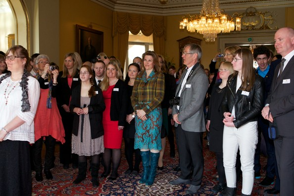 Princess Martha Louise of Norway (C) attends a reception for Norwegian athletes on April 5, 2013 in Oslo, Norway.