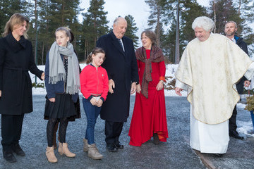 Princess Martha Louise Norwegian Royals Attend Christmas Service