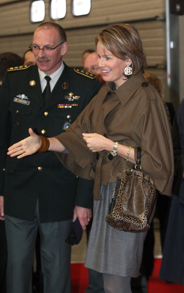Princess Mathilde Attends Family Information National Day [mathilde attends family information national day,mathilde of belgium,families,soldiers,military officer,uniform,colonel,military rank,military uniform,military person,event,official,non-commissioned officer,military,belgian,peutie,quartier militaire major housiau,family information national day]