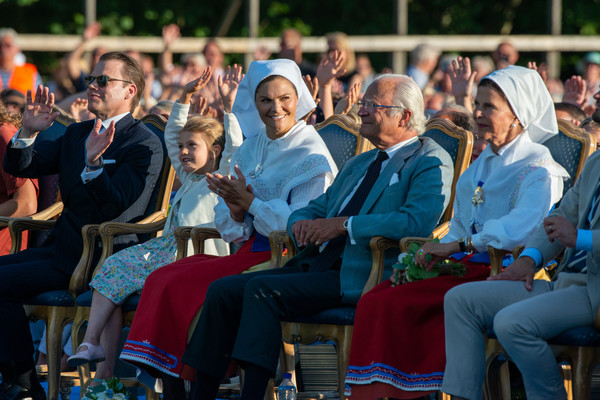 The Crown Princess Victoria Of Sweden's Birthday Celebrations [victoria,family,people,audience,event,crowd,community,tradition,recreation,sitting,performance,competition event,sweden,borgholm,idrottsplatsen,oland,birthday celebrations,birthday celebrations,performances]
