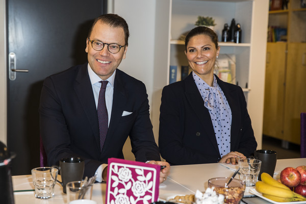 Swedish Royals Visit The Crime Prevention Council [victoria,royals,daniel,event,lunch,suit,brunch,meal,food,businessperson,table,fashion accessory,party,swedish,sweden,stockholm,the crime prevention council]