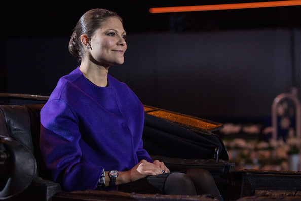 Crown Princess Victoria of Sweden attends Sweden International Horse Show 2014 at Friends Arena on November 28, 2014 in Stockholm, Sweden.