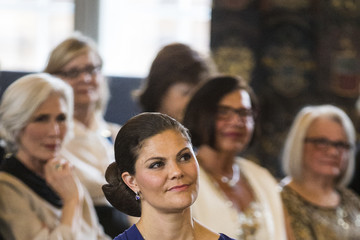 Princess Victoria Crown Princess Victoria of Sweden Attends the Royal Patriotic Society's Annual Event