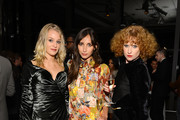 """(EXCLUSIVE COVERAGE) (L-R) Elizabeth Gilpin, Rebecca Dayan, and Kira Lillie attend a private cocktail party for the restored """"Fellini Satyricon"""" hosted by Dolce & Gabbana at the 50th New York Film Festival at the Stanley H. Kaplan Penthouse at Lincoln Center on October 13, 2012 in New York City."""