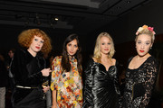 """(EXCLUSIVE COVERAGE) (L-R) Kira Lillie, Rebecca Dayan, Elizabeth Gilpin, and Mia Morett  attend a private cocktail party for the restored """"Fellini Satyricon"""" hosted by Dolce & Gabbana at the 50th New York Film Festival at the Stanley H. Kaplan Penthouse at Lincoln Center on October 13, 2012 in New York City."""