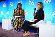 Actress/writer/producer Mindy Kaling (L) and director/producer/screenwriter Nancy Meyers speak onstage during Producers Guild Of America's 11th Annual Produced By Conference at Warner Bros. Studios on June 8, 2019 in Burbank, California.