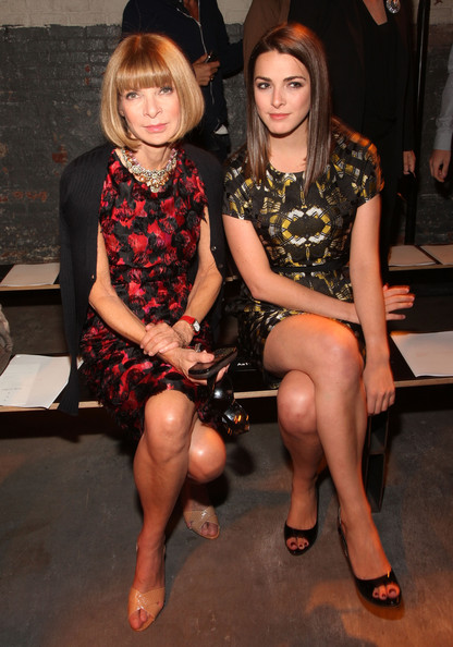 Vogue editor-in-chief Anna Wintour and daugher Bee Shaffer attend the Proenza Schouler Spring 2011 fashion show during Mercedes-Benz Fashion Week at  on September 15, 2010 in New York City.