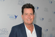 Charlie Sheen attends Project Angel Food's 2018 Angel Awards on August 18, 2018 in Hollywood, California.