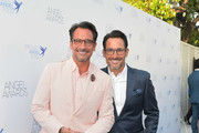 Lawrence Zarian (L) and Gregory Zarian attend Project Angel Food's 2018 Angel Awards on August 18, 2018 in Hollywood, California.