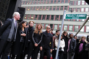 Tim Gunn, Andrea Wong, Austin Scarlett, Nina Garcia and Michael Kors attend the Project Runway Avenue temporary street renaming at 39th Street and Seventh Avenue on January 13, 2010 in New York City.