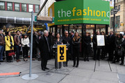 Tim Gunn, Andrea Wong, Michael Kors and Nina Garcia attend the Project Runway Avenue temporary street renaming at 39th Street and Seventh Avenue on January 13, 2010 in New York City.