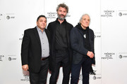"""Nicolas Nicolaou, Michael Weber and Abel Ferrara attend the """"Projectionist"""" screening during the 2019 Tribeca Film Festival  at Village East Cinema on April 28, 2019 in New York City."""