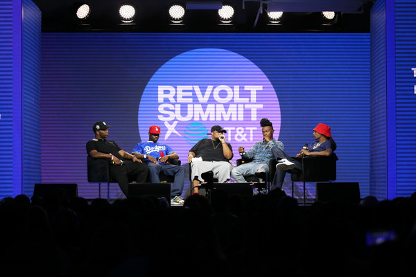 REVOLT X AT&T Host REVOLT 3-Day Summit In Los Angeles - Day 2 [stage,event,performance,stage equipment,display device,projection screen,convention,academic conference,talent show,music,anthony ``moosa tiffith,brandon ``big b tiffith,jay rock,snoop dogg,punch,l-r,los angeles,at t,revolt x,host revolt]