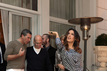 Antonio Banderas Jeffrey Katzenberg 'Puss in Boots' Photocall & Press Conference In Rome
