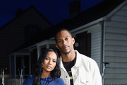 Karrueche Tran and Victor Cruz attend the front row for Pyer Moss on September 8, 2018 in New York City.