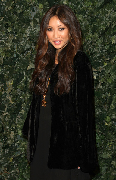 Actress Brenda Song arrives at QVC Red Carpet Style Party on February 25, 2011 in Los Angeles, California.