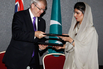Hina Rabbani Khar Queen Attends CHOGM - Day 1