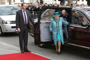 Queen Elizabeth II and Duke of Edinburgh arrive to officially reopen Canada House on February 19, 2015 in London, England.