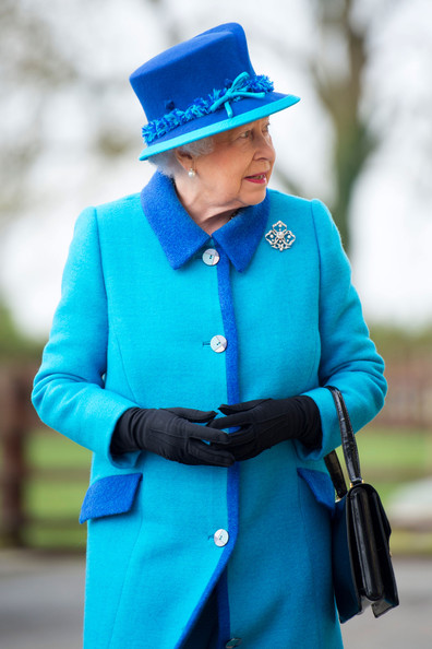 Queen Elizabeth II during an official visit to Cotts Farm Equine Hospital, Narbeth on April 29, 2014 in Narbeth, Wales. The Cotts Equine Hospital is a purpose-built facility offering veterinary equine care.