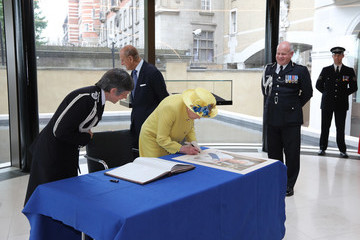 Queen Elizabeth II The Queen and Duke of Edinburgh Open the New Headquarters of the Metropolitan Police