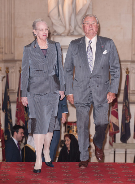 Queen Margarethe II of Denmark and Prince Henrik of Denmark  arrrive at a lunch For Sovereign Monarchs in honour of Queen Elizabeth II's Diamond Jubilee, at Windsor Castle, on May 18, 2012 in Windsor, England.