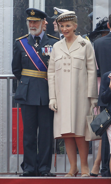Prince Michael of Kent and Princess Michael of Kent attend the Armed Forces Parade and Muster on May 19, 2012 in Windsor, England. Over 2500 troops took part in the Diamond Jubilee Muster in Home Park.