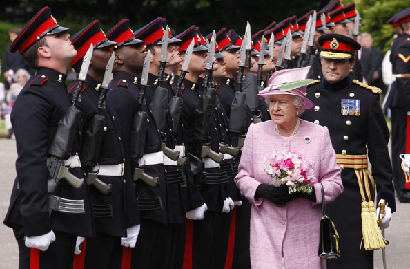 Queen Elizabeth II attends the Ceremony Of The Keys at the Palace of Holyroodhouse on July 12, 2010 in Edinburgh, Scotland. The Queen received the keys to the city and honoured Scottish recipients with 84 awards, including OBEs, MBEs and CBEs during the traditional ceremony, which marks the start of a week of royal engagements in Scotland. The monarch will entertain around 8,000 guests at a garden party in the grounds of the Holyrood Palace later in the week.