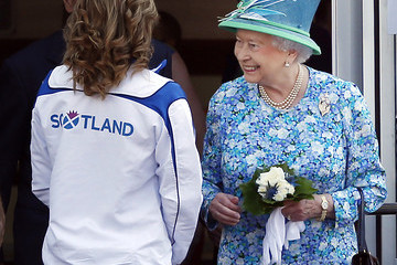 Queen Elizabeth II Arrivals at the 20th Commonwealth Games