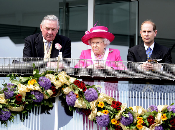 Queen Elizabeth II Queen Elizabeth II watches on after defeat for her horse in The Investec Derby during The Derby Festival at Epsom racecourse on June 04, 2011 in Epsom, England