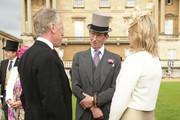Prince Edward, Duke of Kent (C) attends a garden party held at Buckingham Palace on June 3, 2013 in London, England.